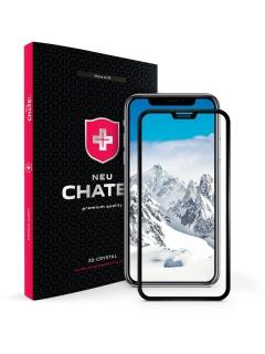 Захисне скло +NEU Chatel Full 3D Crystal for iPhone 11/XR Front Black