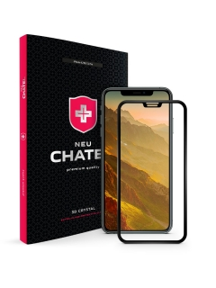 Захисне скло +NEU Chatel Full 3D Crystal for iPhone X/XS/11 Pro Front Black