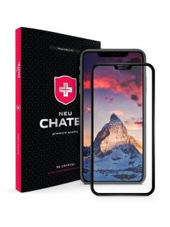 Захисне cкло +NEU Chatel Full 3D Crystal for iPhone XS Max/11 Pro Max Front Black
