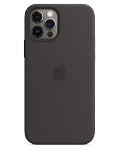 Silicone Case iPhone 12 | 12 Pro - Black (Original Assembly)