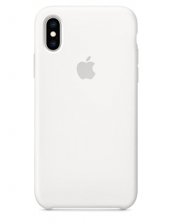 Silicone Case iPhone X/Xs - White (Original Assembly)