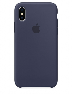 Silicone Case iPhone XS Max - Midnight Blue (Original Assembly)
