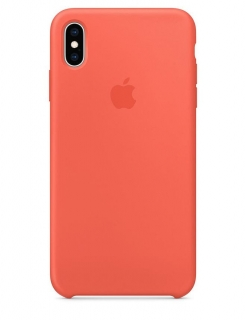 Silicone Case iPhone XS Max - Nectarine (Original Assembly)