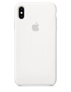 Silicone Case iPhone XS Max - White (Original Assembly)