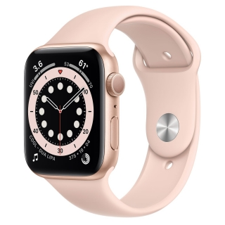 Apple Watch Series 6 44mm Gold Aluminum Case with Pink Sand Sport Band