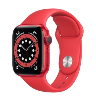 Apple Watch Series 6 40mm Red Aluminum Case with Red Sport Band