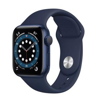 Apple Watch Series 6 40mm Blue Aluminum Case with Deep Navy Sport Band