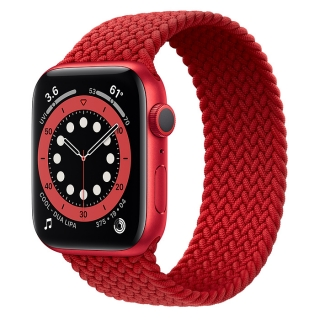 Apple Watch Series 6 44mm (PRODUCT)RED Aluminum Case with (PRODUCT)RED Braided Solo Loop