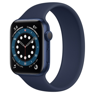 Apple Watch Series 6 44mm Blue Aluminum Case with Deep Navy Solo Loop