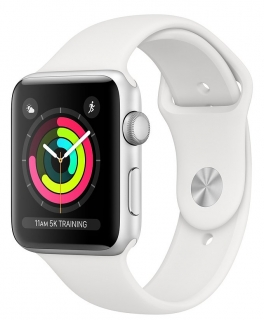 Б/У Apple Watch Series 3 42mm Silver Aluminum Case with White Sport Band