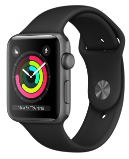 Б/У Apple Watch Series 3 42mm Space Gray Aluminum Case with Black Sport Band