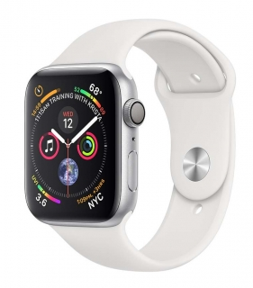 Б/У Apple Watch Series 4 44mm Silver Aluminum Case with White Sport Band