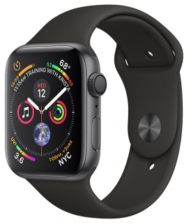 Б/У Apple Watch Series 4 44mm Space Gray Aluminum Case with Black Sport Band