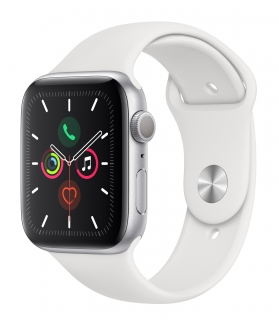 Б/У Apple Watch Series 5 40mm Silver Aluminum Case with White Sport Band