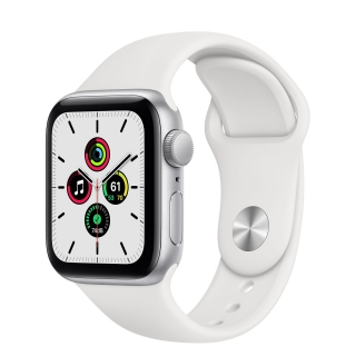 Apple Watch Series SE 40mm Silver with White Sport Band