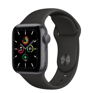 Apple Watch Series SE 40mm Space Gray with Black Sport Band