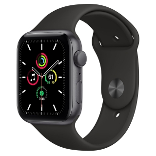 Apple Watch Series SE 44mm Space Gray with Black Sport Band